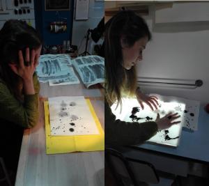 curso continuo: experimentación con manchas